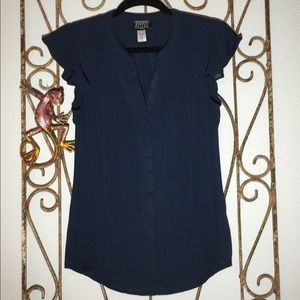 Tops - Beautiful navy blouse by simply style - Small